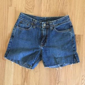 Lucky Brand Cutoff Jean Shorts